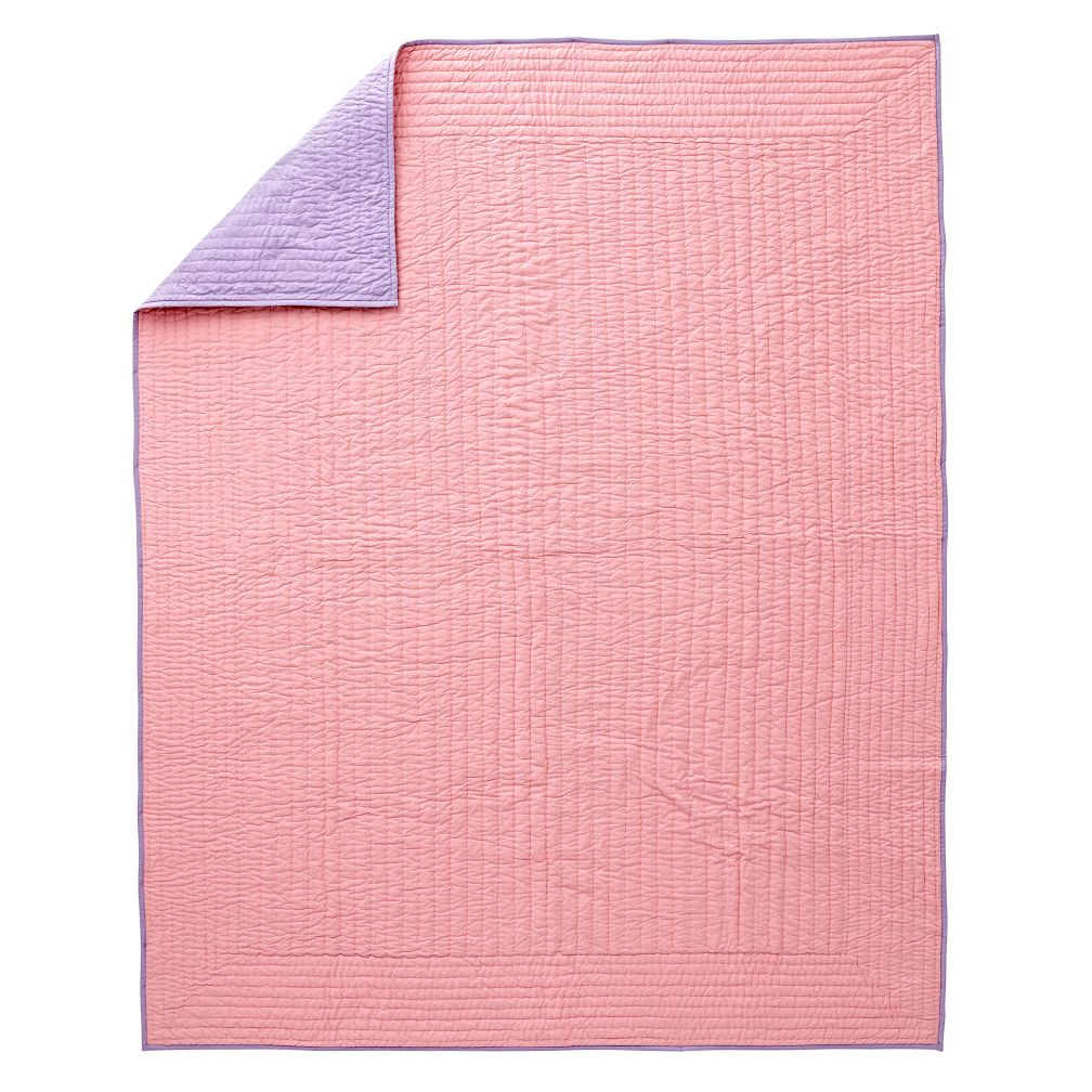 Pink and Purple Quilt Twin | The Land of Nod : lahaina quilt shop - Adamdwight.com