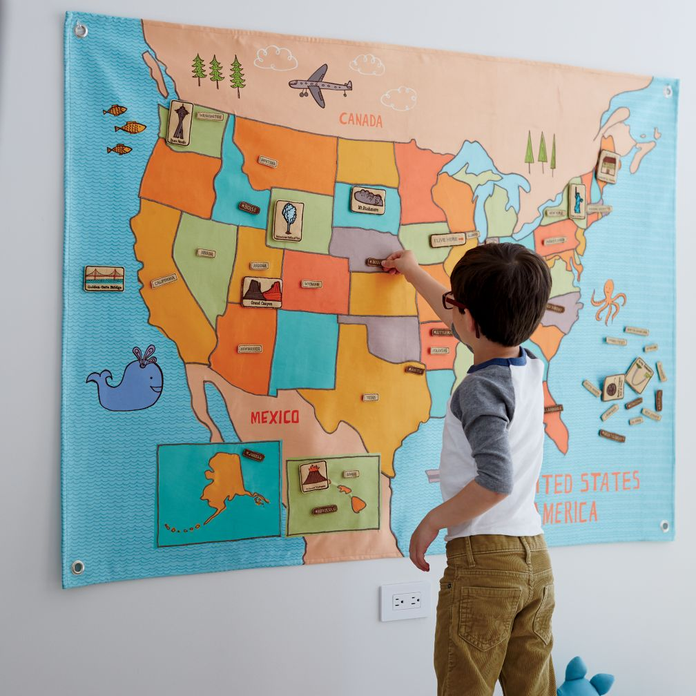 Road Trip Soft Wall Map