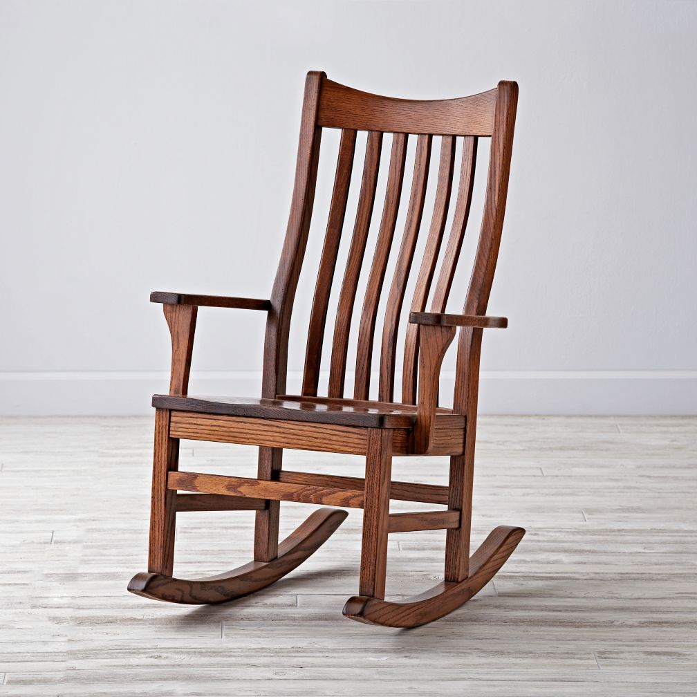 Classic wooden rocking chair for nursery the land of nod for Rocking chair