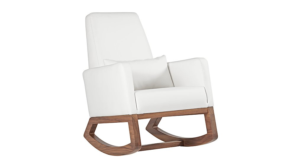Joya Rocking Chair ... - Baby Rocking Chair: White Leather The Land Of ...
