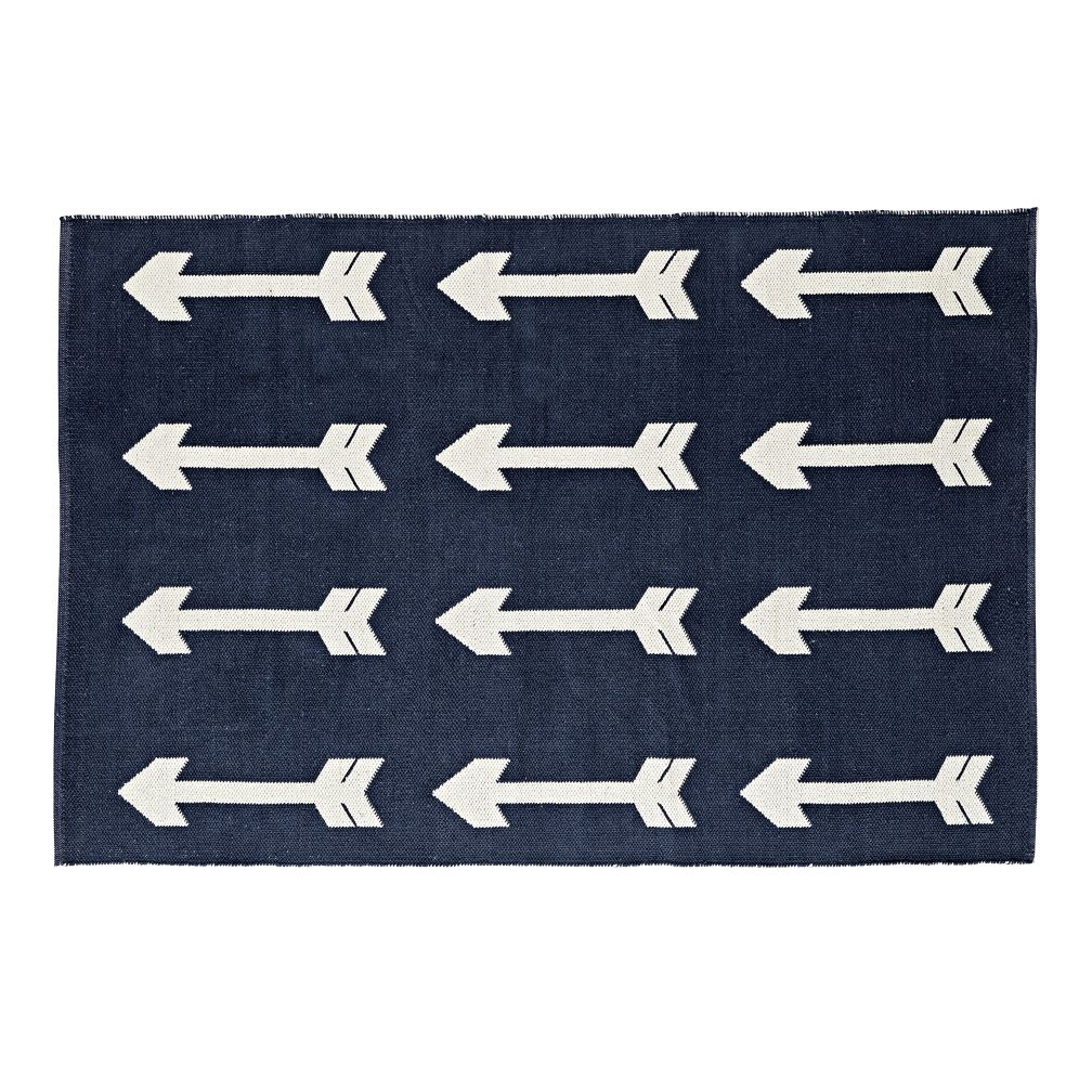 Reversible Navy Arrow Rug
