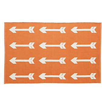 Reversible Orange Arrow 4 x 6' Rug