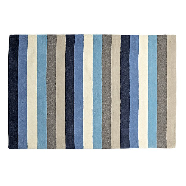4' x 6' Blue Stripe Rug
