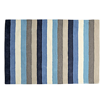 8' x 10' Blue Stripe Rug