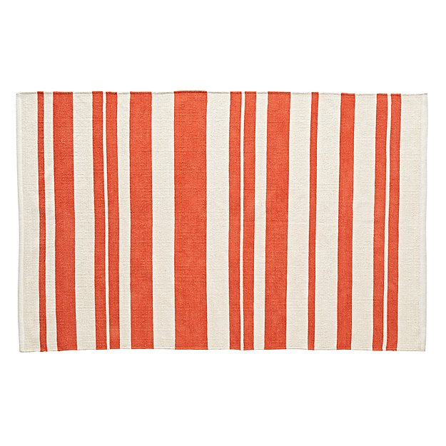 Barcode Red 4 x 6' Rug