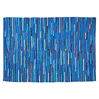 Basic Blue Rag 5 x 8' Rug