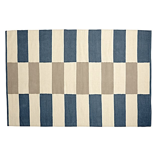 5 x 8' Block Work Reversible Rug