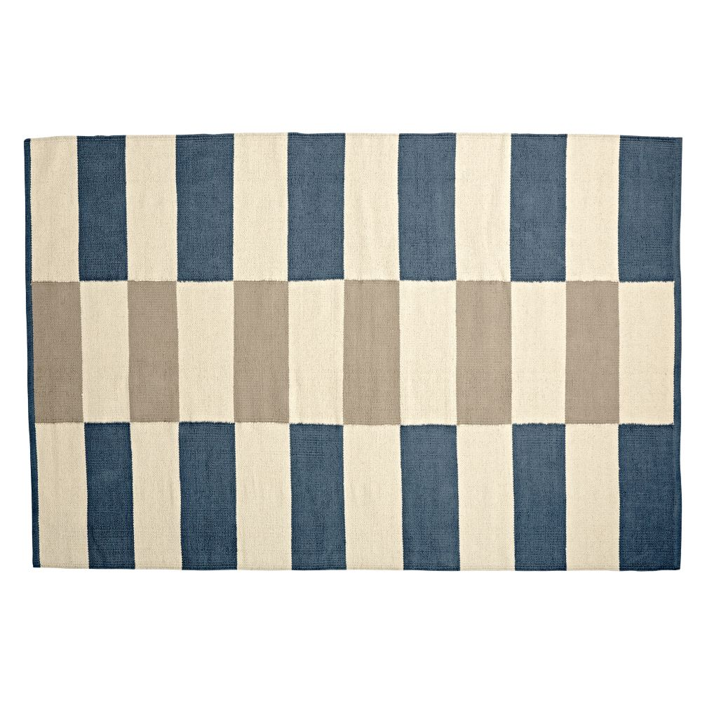 4 x 6' Block Work Reversible Rug