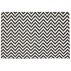 5 x 8' Grey Chevron Rug