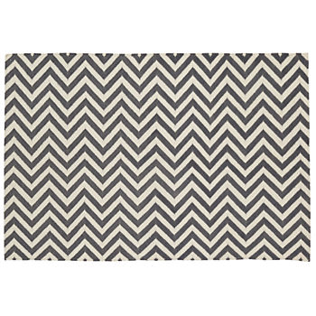 4 x 6' Chevron Rug (Grey)
