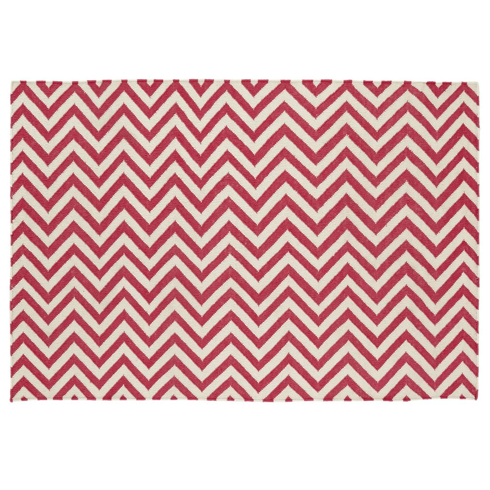 pink chevron rug  the land of nod -