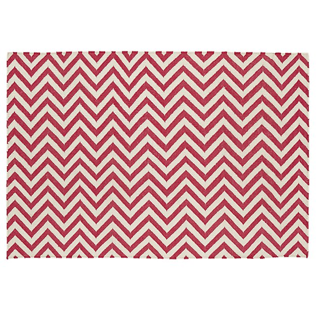 Chevron and On Rug (Pink) - Pink Chevron Rug The Land Of Nod