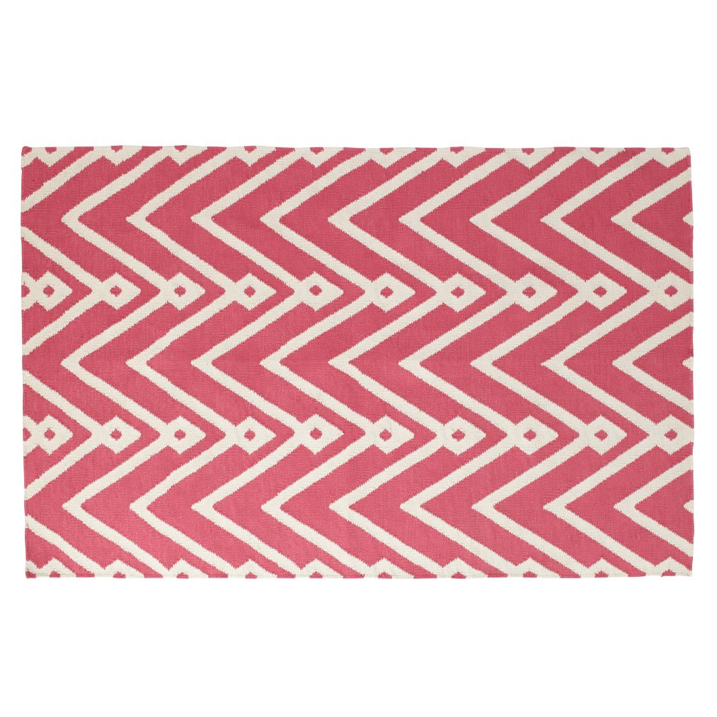 Chevron Twist Rug (Pink)
