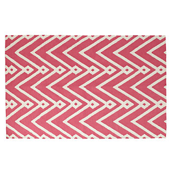 5 x 8' Chevron Twist Rug (Pink)