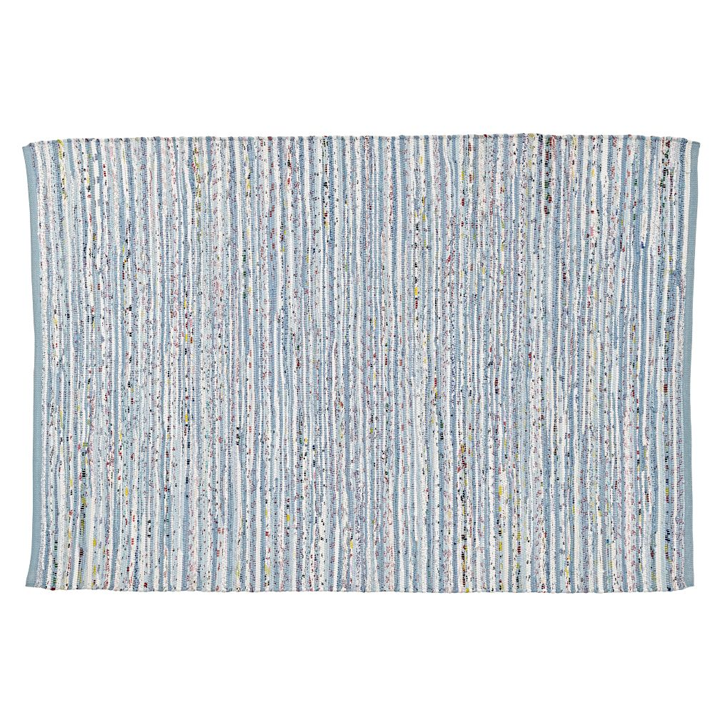 Classic Baby Blue Rag 4 X6 Rug The Land Of Nod