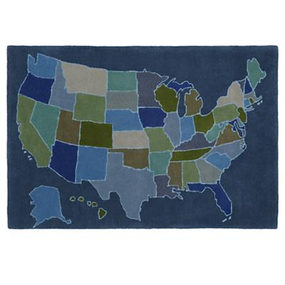 5 x 8' Coast to Coast Rug (Blue)