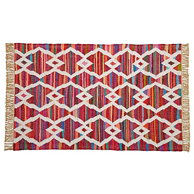 Colorful Cotton 4 x 6' Rug