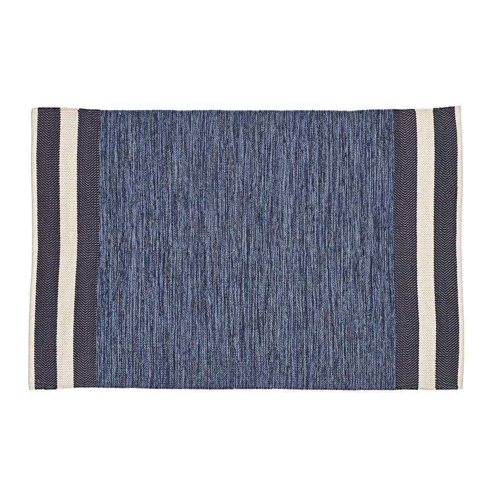 5 x 8' Defined Lines Rug (Blue)
