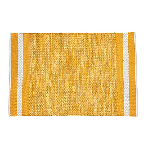 4 x 6' Defined Lines Rug (Yellow)