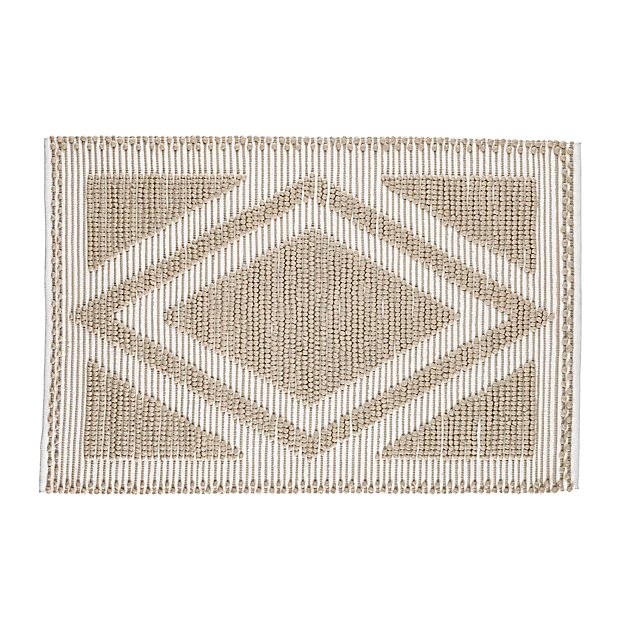 4 x 6' Diamond in the Rug (Khaki)
