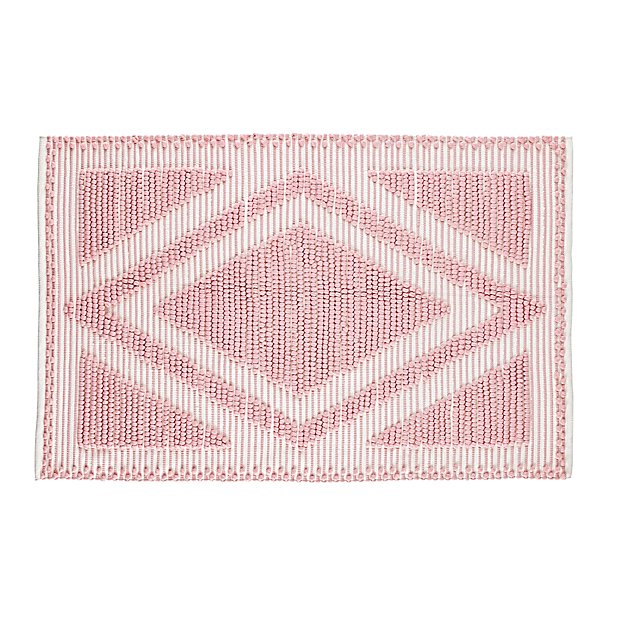 5 x 8' Diamond in the Rug (Pink)