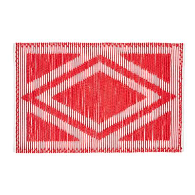 4 x 6' Diamond in the Rug (Red)