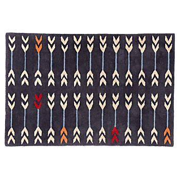 Double Arrow Navy 4 x 6' Rug