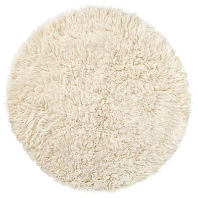 flokati fluff round rug  the land of nod, Rug/