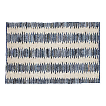 5 x 8' Folk Denim Rug