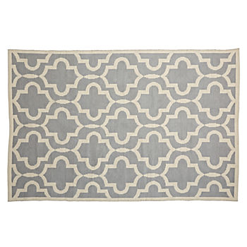 5 x 8' Fretwork Grey Rug