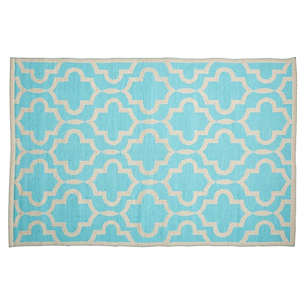 4 x 6' Fretwork Mint Rug