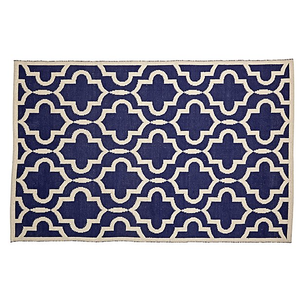 5 x8' Fretwork Navy Rug