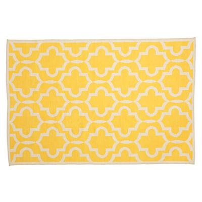 5 x 8' Fretwork Yellow Rug