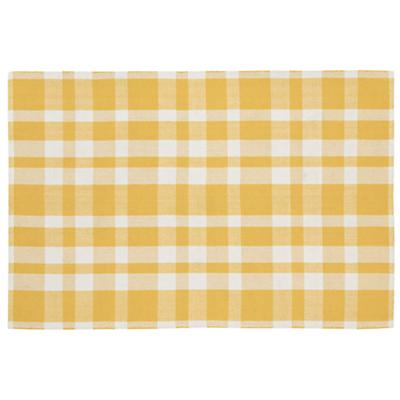 5 x 8'  Pastel Plaid Rug (Yellow)