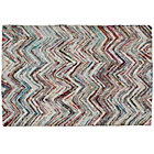 5 x 8' Color Static Recycled Rug