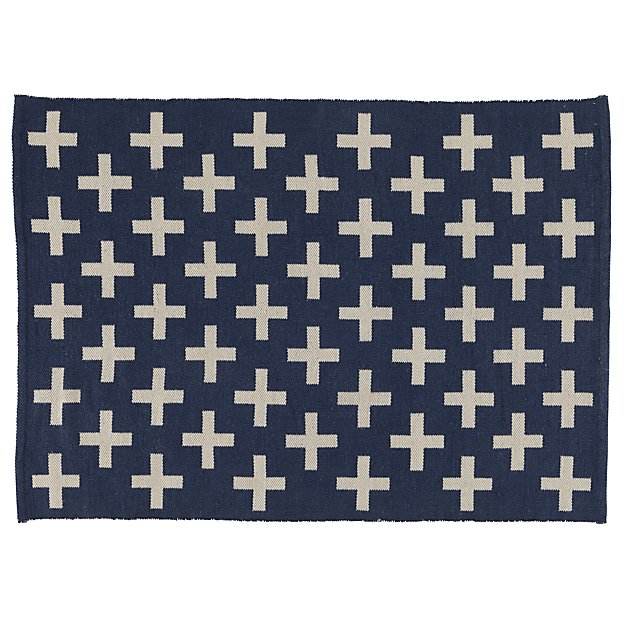 Indoor + Outdoor Rug (Blue) | The Land of Nod | title