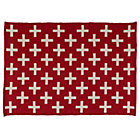 4 x 6' Red Indoor Outdoor Rug