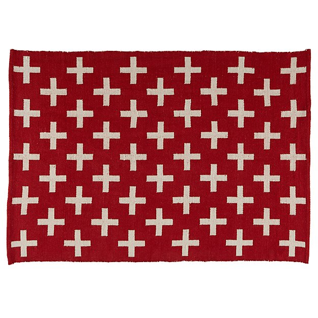 5 x 8' Indoor + Outdoor Rug  (Red)