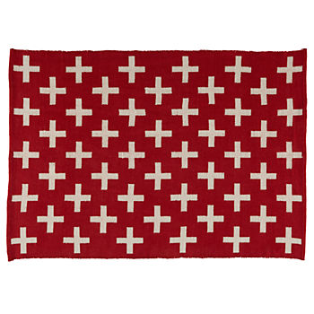 8 x 10' Indoor + Outdoor Rug (Red)
