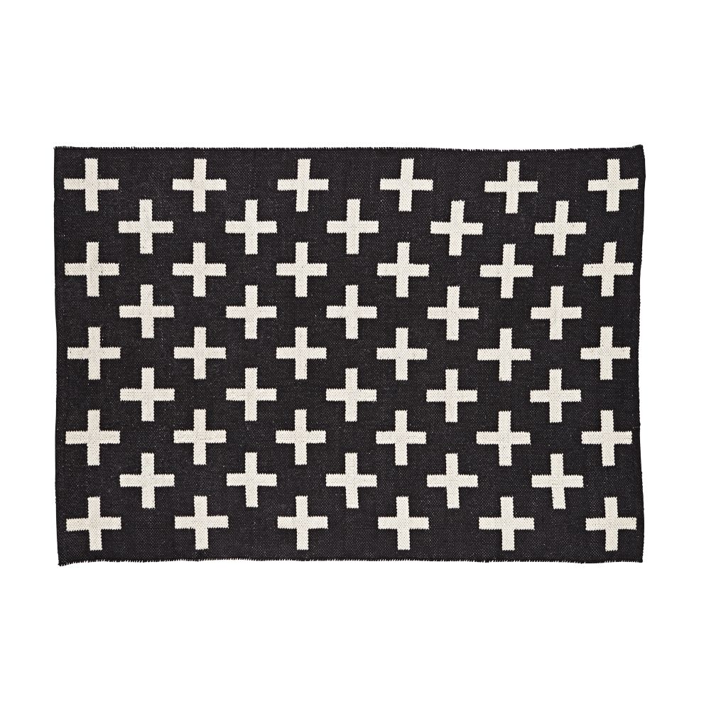 Design Black Rug indoor outdoor rug black the land of nod
