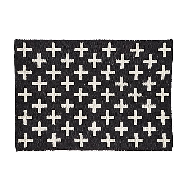 Indoor + Outdoor Rug (Black) | The Land of Nod