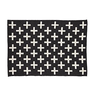 8 x 10' Indoor Outdoor Rug (Black)