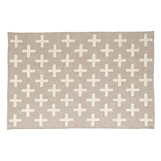 Indoor + Outdoor Grey 5 x 8' Rug