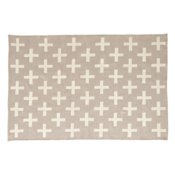 Indoor + Outdoor Grey 4 x 6' Rug