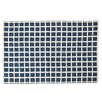 Square Navy 8 x 10' Indoor/Outdoor Rug