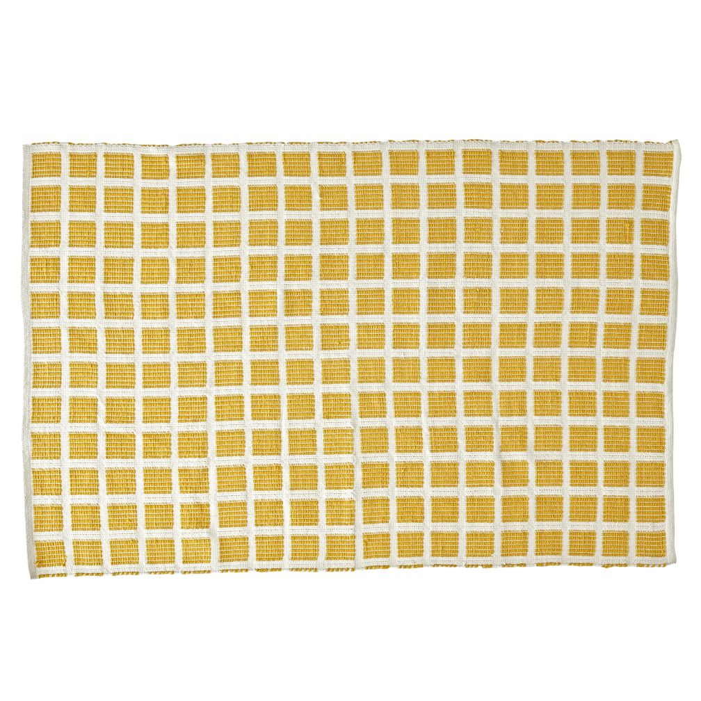 Square Yellow Indoor/Outdoor Rug