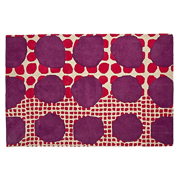 5 X 8' Multi-Dot Pink & Purple Rug