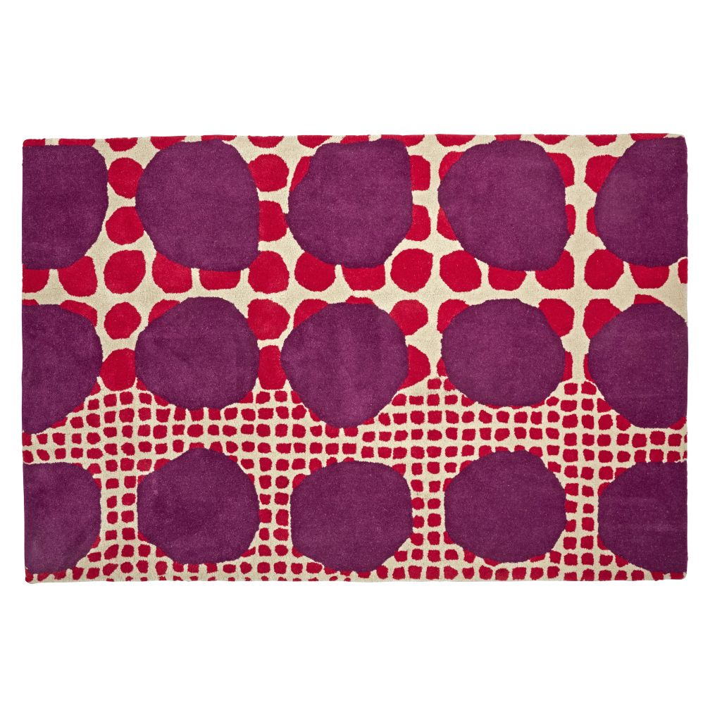 8 X 10' Multi-Dot Pink & Purple Rug