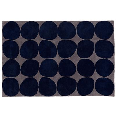 Ink Spot Rug Swatch (Blue)