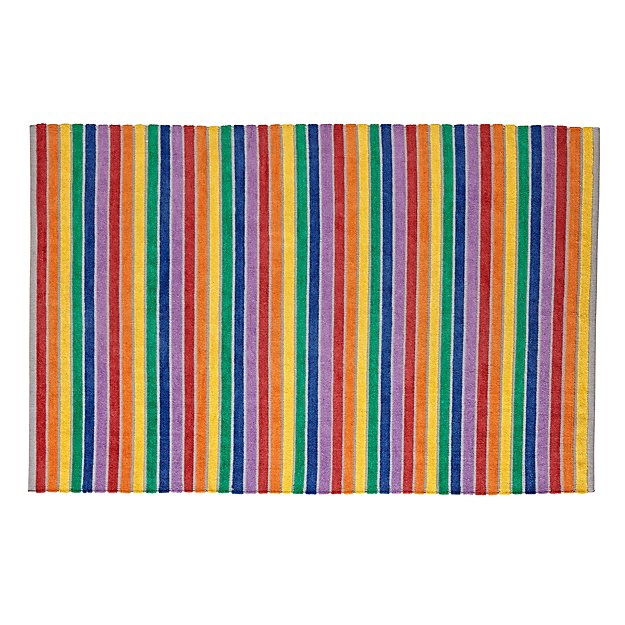 Rainbow Stripe 5 x 8' Rug